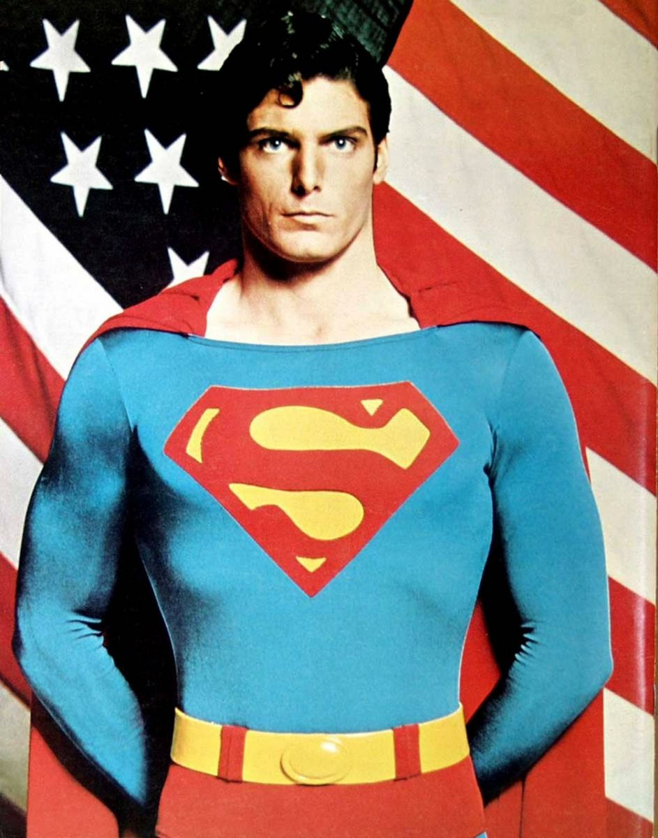 Big boots to fill. Christopher Reeve as Superman in 1978.