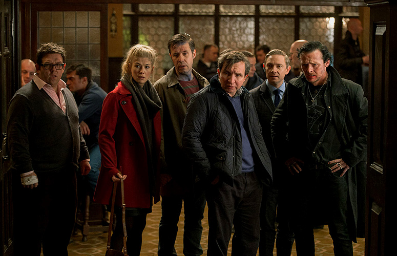 Rosamund Pike, Paddy Considine, Eddie Marsan, Martin Freeman, Simon Pegg and Nick Frost supply the laughs.