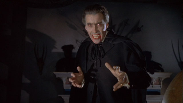 Christopher Lee giving the quintessential performance of Bram Stoker's infamous creation; Count Dracula.