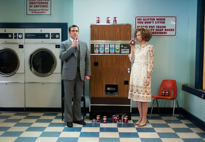 Steve Carell and Kirsten Wig as love birds Brick and Chani.