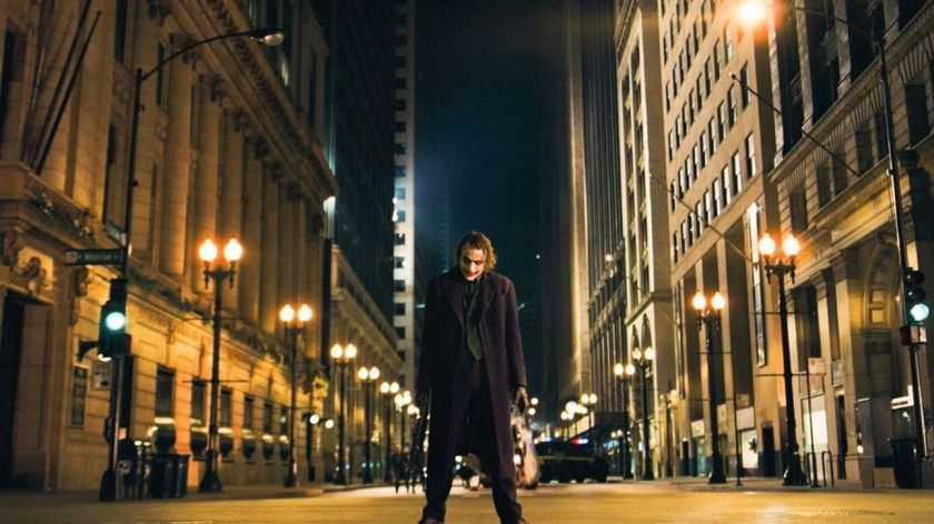 The Joker stands tall in The Dark Knight