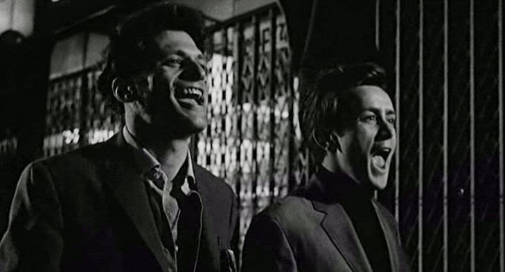 Tony Musante and Martin Sheen play Joe and Artie in the film The Incident