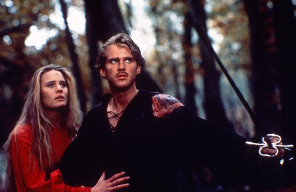 Wesley and Princess Buttercup from the cult 80s family film The Princess Bride