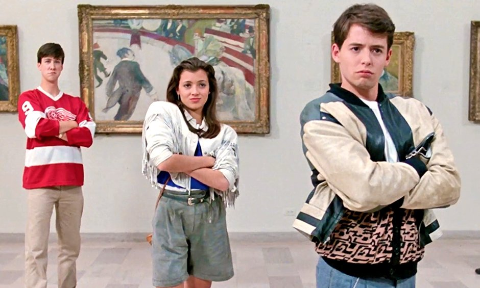 Matthew Broderick, Alan Ruck and Mia Sara in Ferris Bueller's Day off.