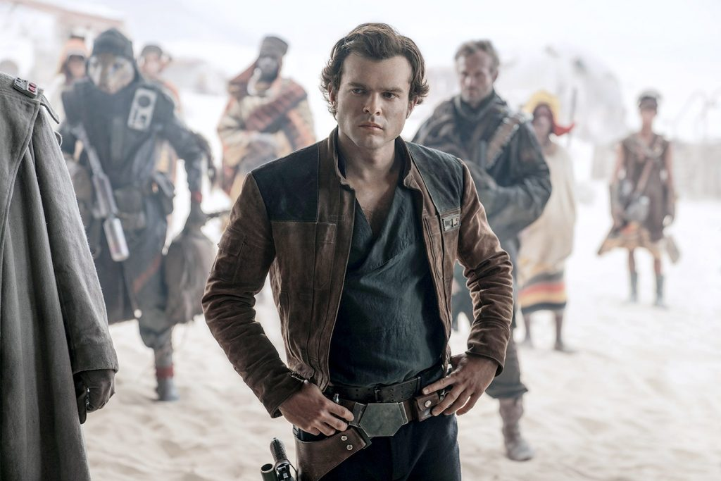 Alden Ehrenreich stars as a Young Han Solo in Solo: A Star Wars Story