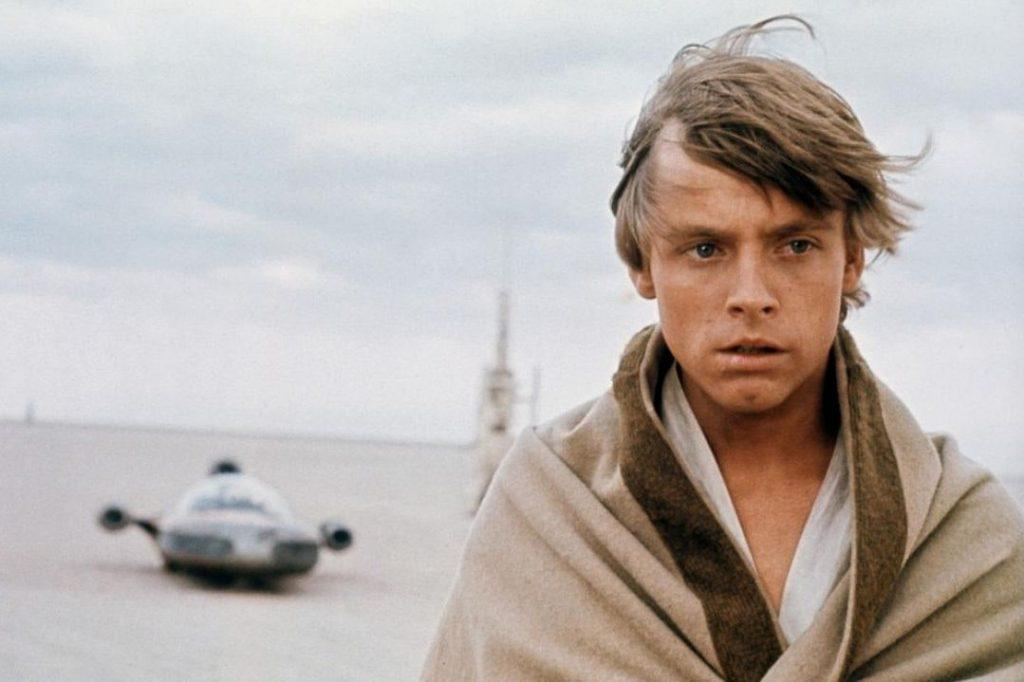 Mark Hamill as Luke Skywalker in the best Star Wars film, A New Hope.