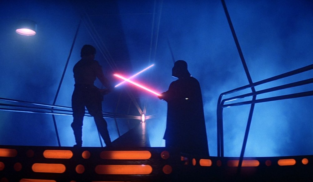 Luke Skywalker faces Darth Vader in one of the best films ever made, The Empire Strikes Back.