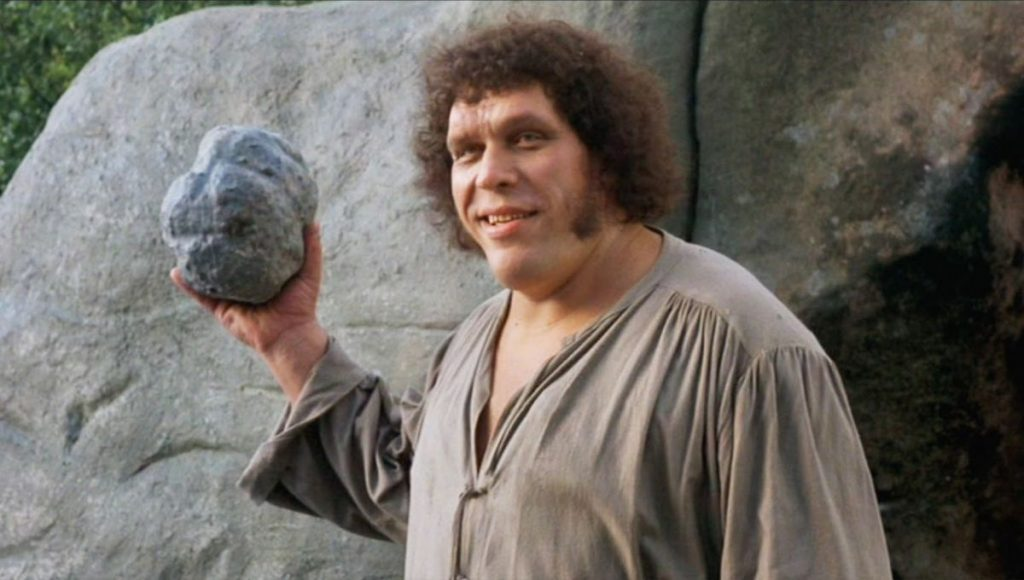 Wrestler Andre the Giant in the film The Princess Bride
