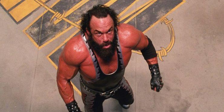 Wrestler Macho Man Randy Savage as Bonesaw in the film Spider-Man