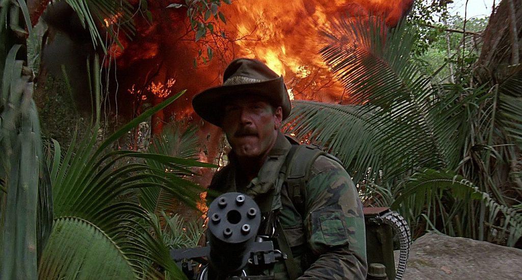 Wrestler Jesse Ventura in the film Predator