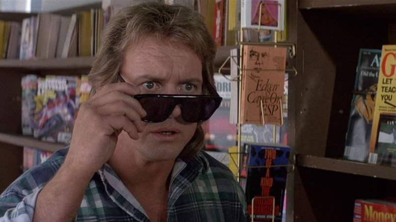 Wrestler Rowdy Roddy Piper in the film They Live