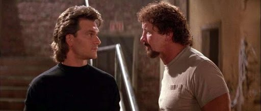 Wrestler Terry Funk star with Patrick Swayze in the film Road House