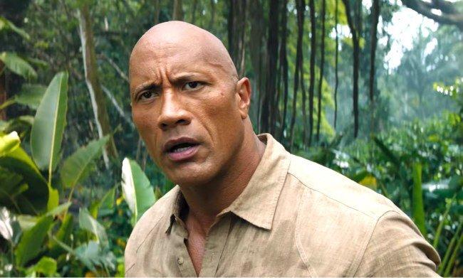 Wrestler Dwayne The Rock Johnson in Jumanji Welcome to the Jungle