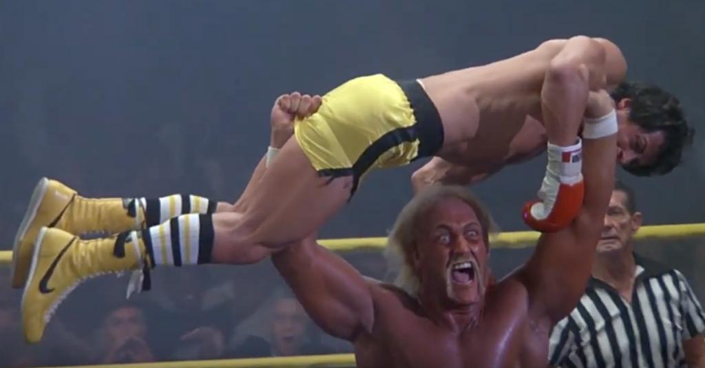 Wrestler Hulk Hogan as Thunderlips in the film Rocky 3