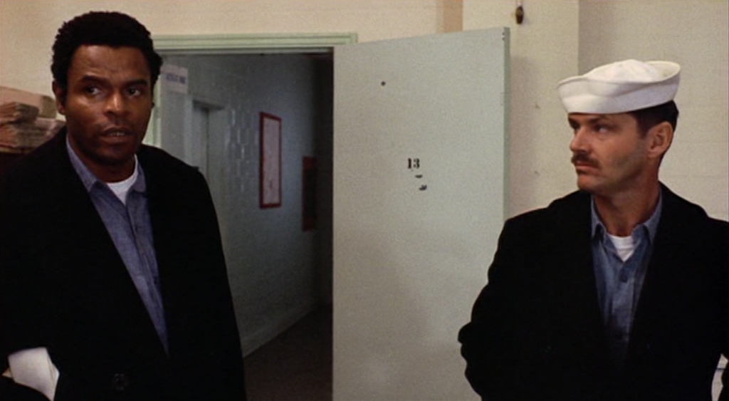 Otis Young and Jack Nicholson in The Last Detail