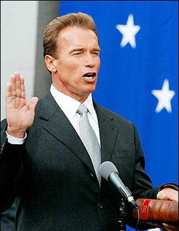 The Governator Sworn In