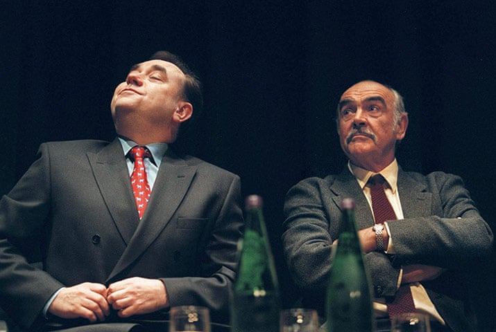 Connery with former SNP leader Alex Salmond