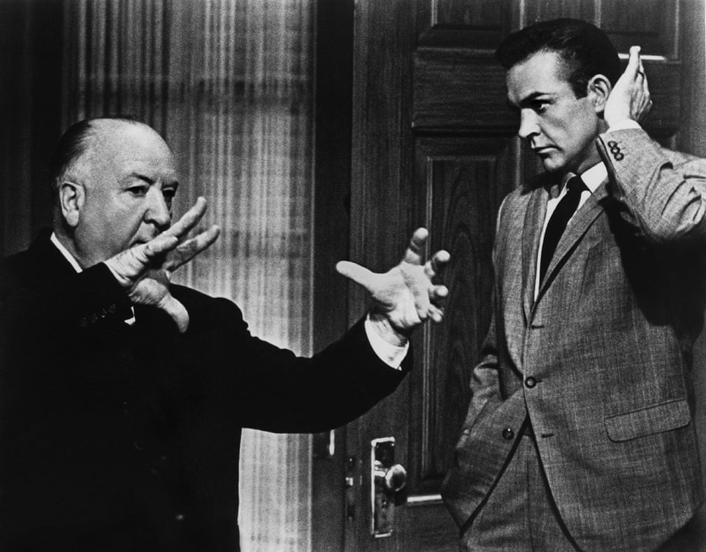 Alfred Hitchcock and Sean Connery on set for Marnie