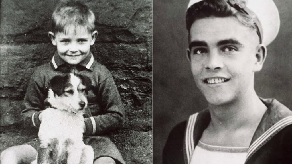 Sean Connery as a Young Boy, and when he joined the Navy