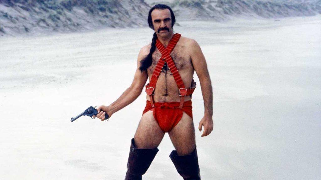 Sean Connery in In Zardoz in 1974