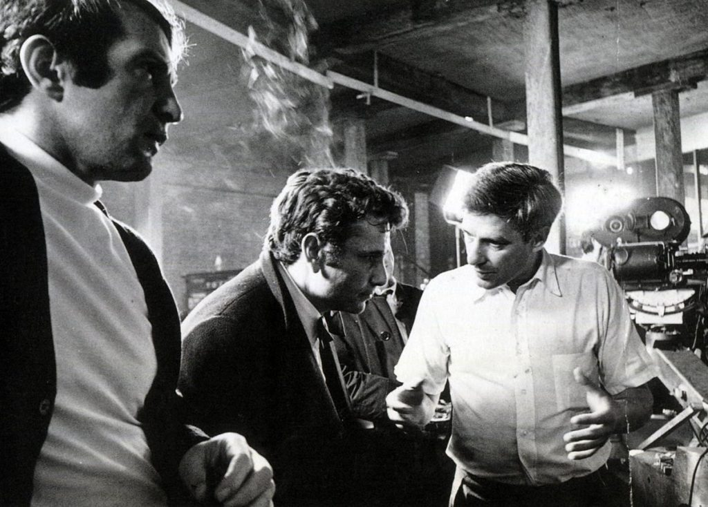 Ben Gazzara, Peter Falk and John Cassavetes during the filming of Husbands