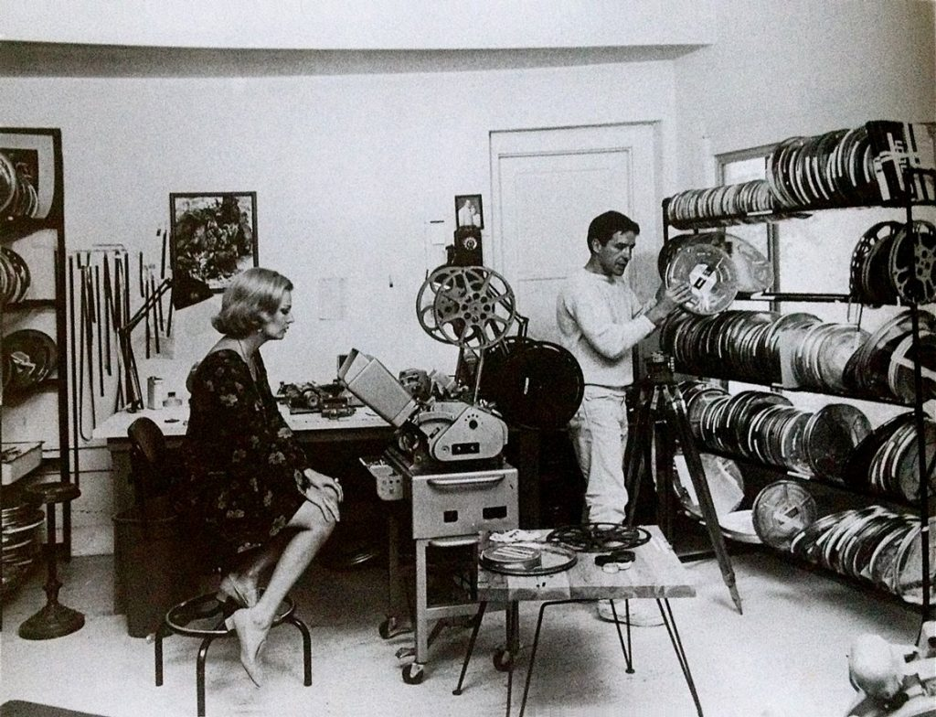 Gena Rowlands and John Cassavetes in the editing room.