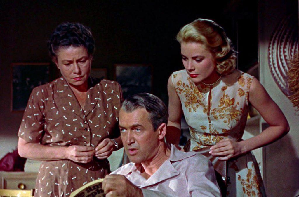 Thelma Ritter, James Stewart and Grace Kelly in Rear Window (1954)