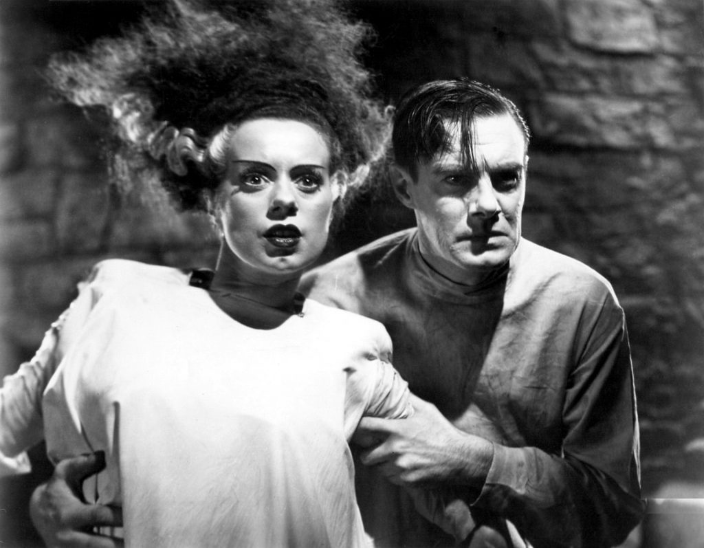 Elsa Lanchester and Colin Clive in The Birde of Frankenstein