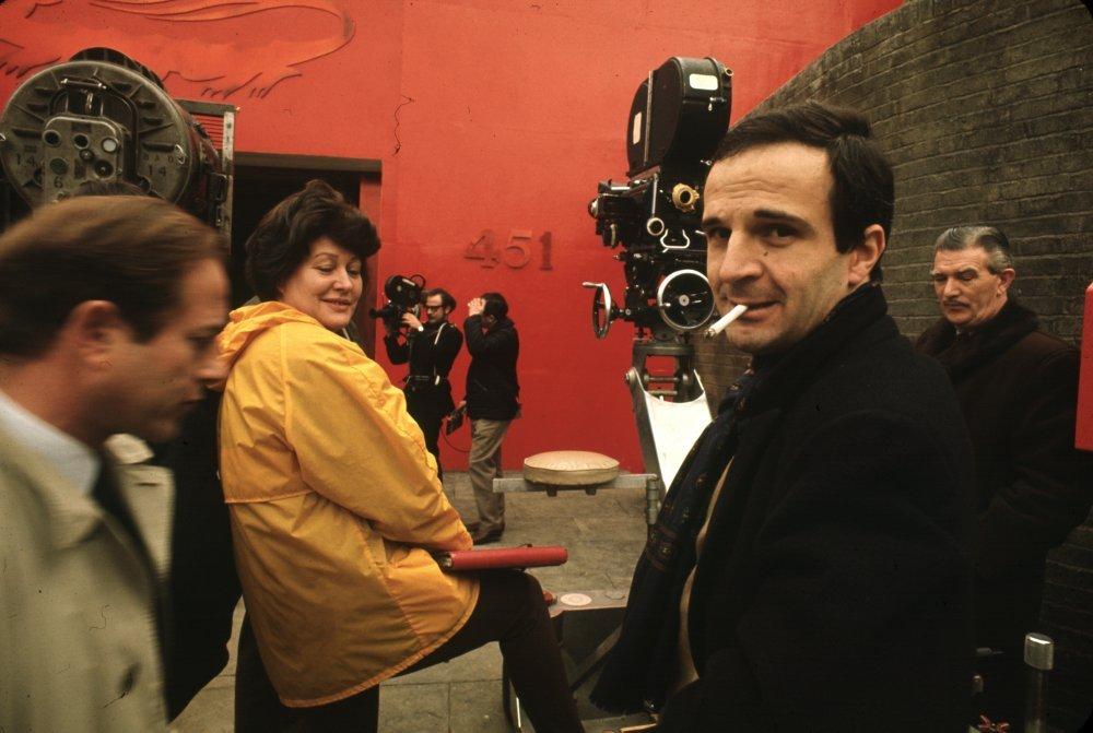 Francois Truffaut on set