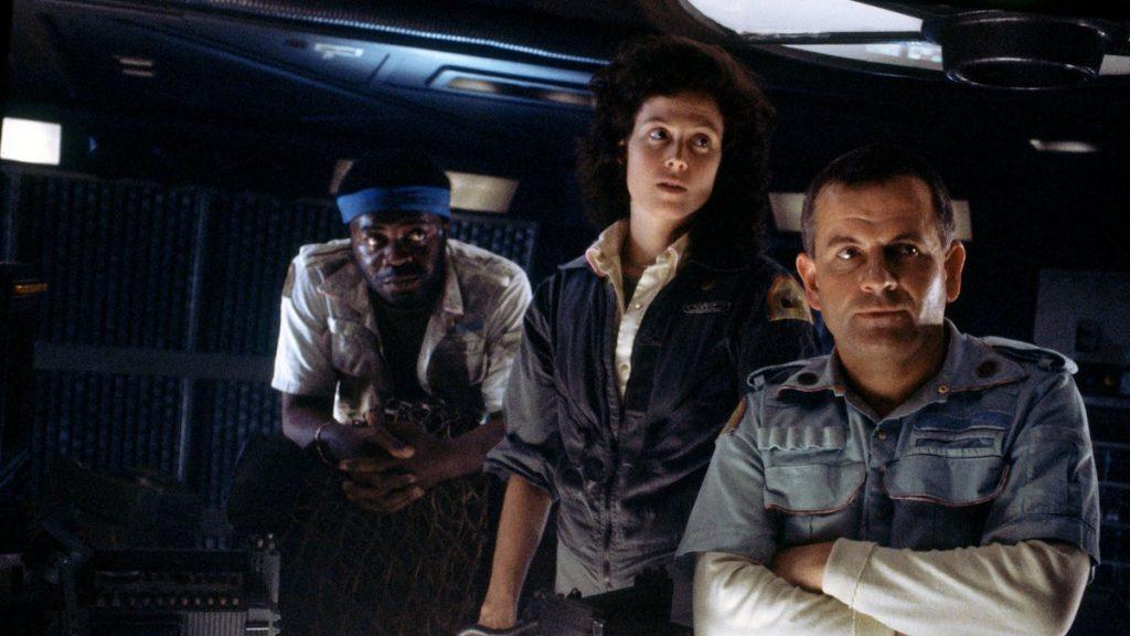 A still image from the film Alien 1979