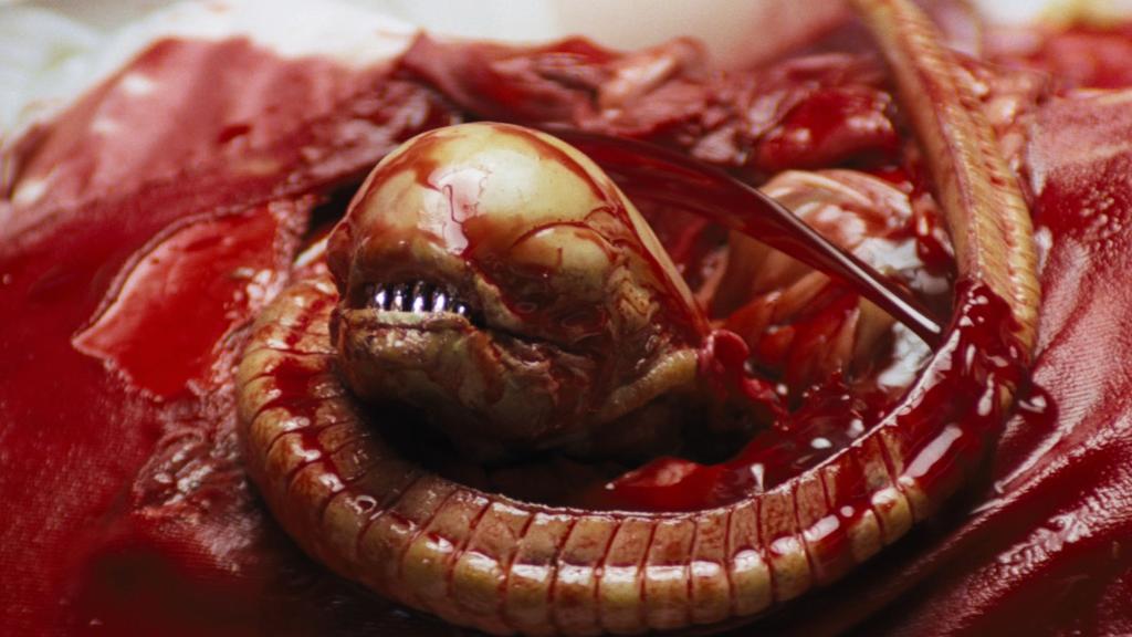 the chestburster from Alien 1979