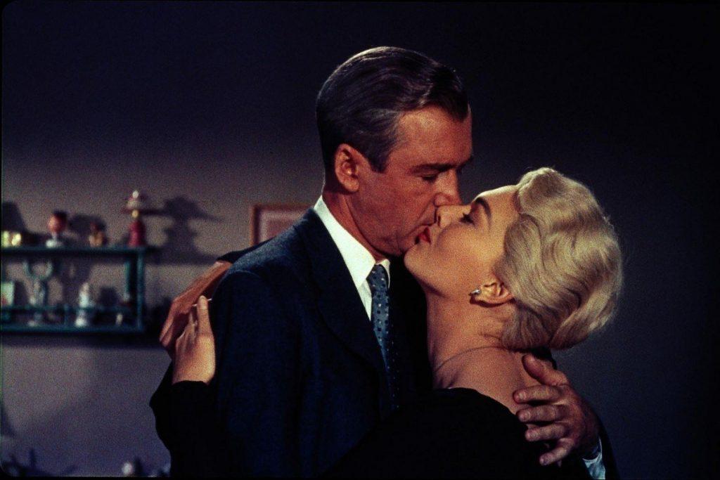 James Stewart and Kim Novak in Vertido (1958)