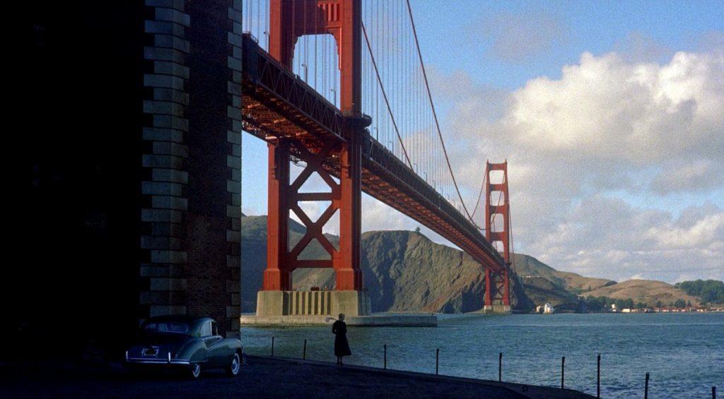 The Golden Gate Bridge in San Fransisco as seen in Vertigo (1958)