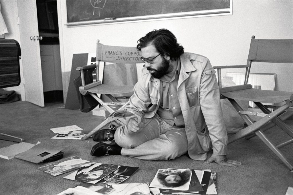 Francis Ford Coppola looking at head shots