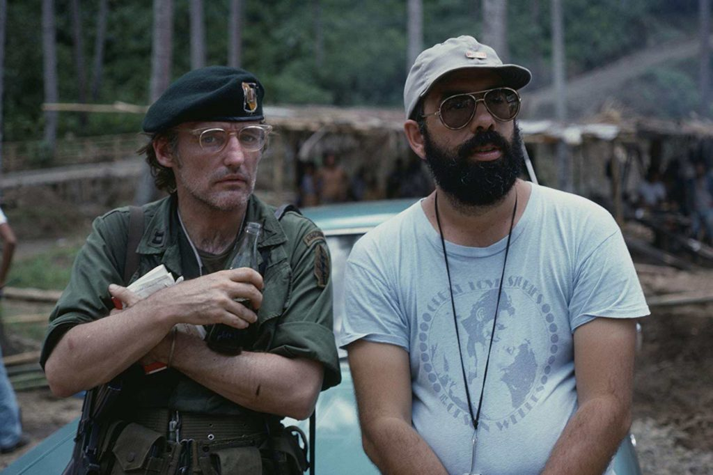 Dennis Hopper, left,  and Francis Ford Coppola on the set of Apocalypse Now