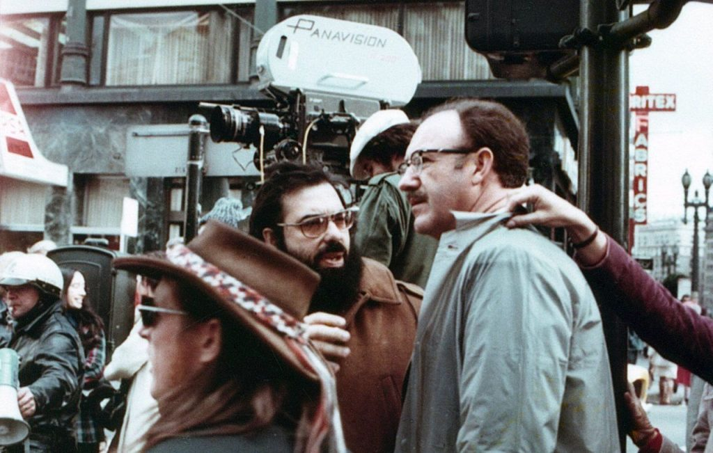 Francis Ford Coppola with Gene Hackman on the set of The Conversation