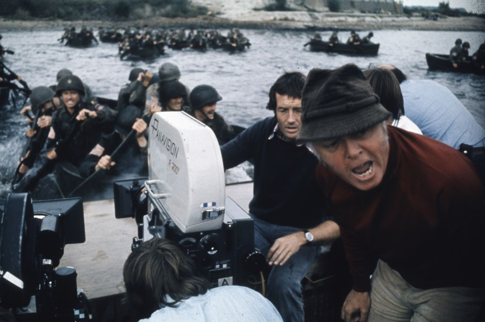 Richard Attenborough directing the troops in A Bridge Too Far