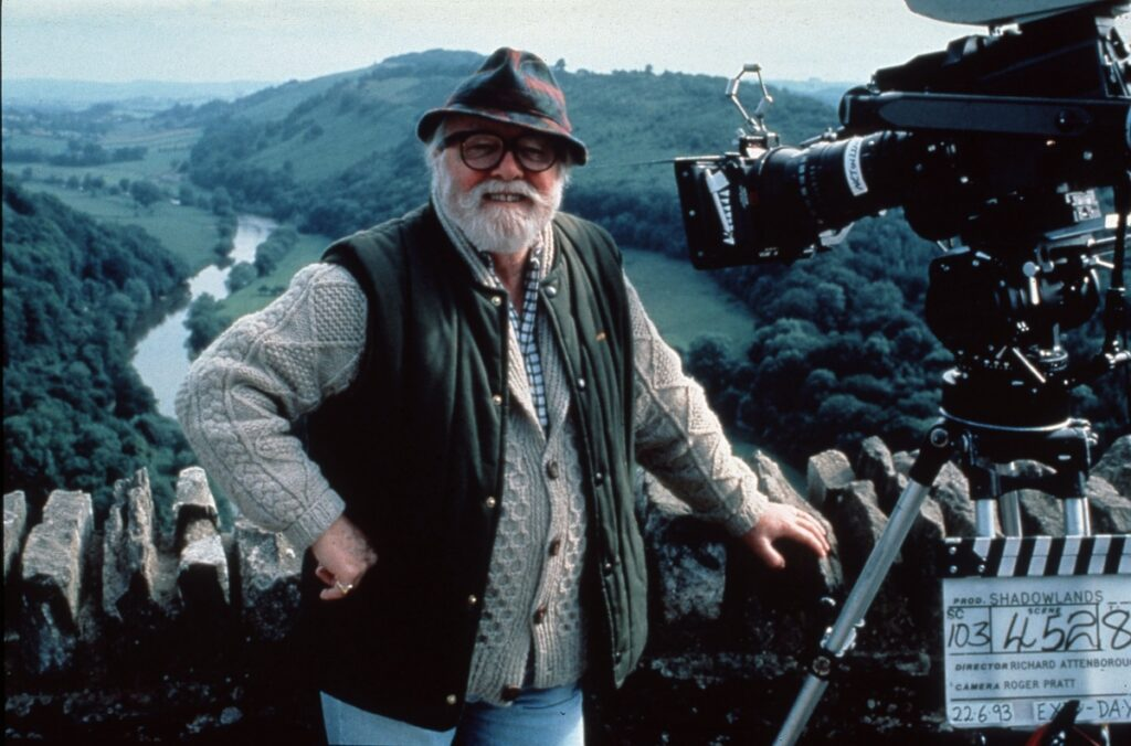 Richard Attenborough during the shoot for Shadowlands