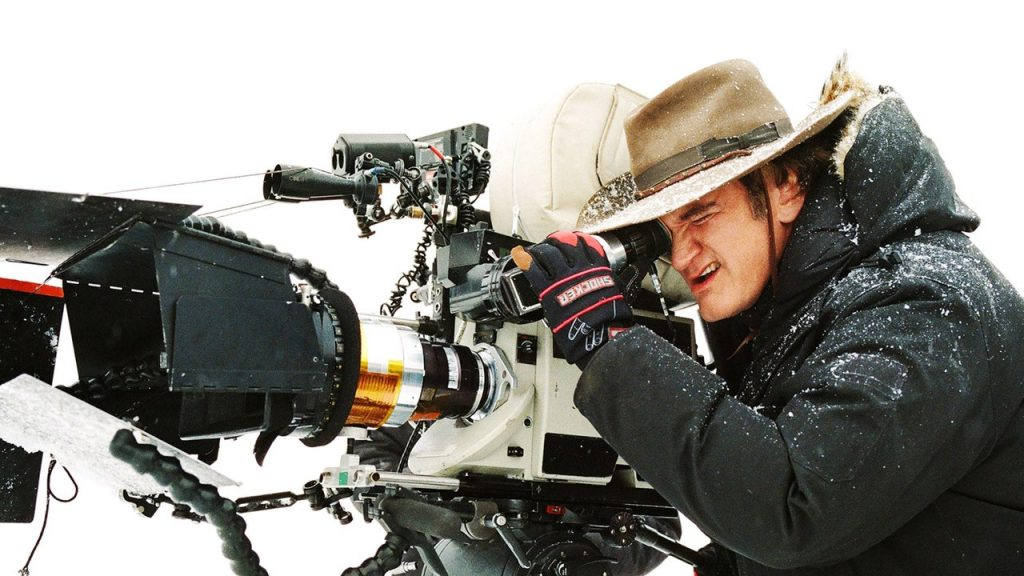 Quentin Tarantino lining up the next shot on The Hateful Eight
