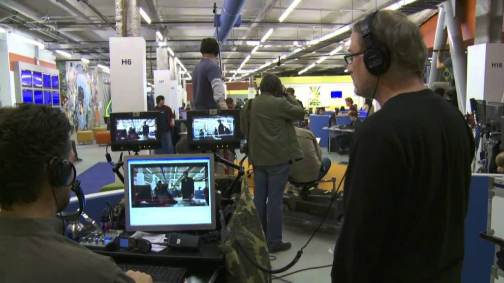 David Fincher directing The Social Network
