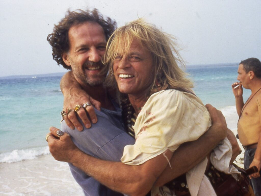 Werner Herzog and Klaus Kinski during the shoot for ASguirre, The Wrath of God (1972)