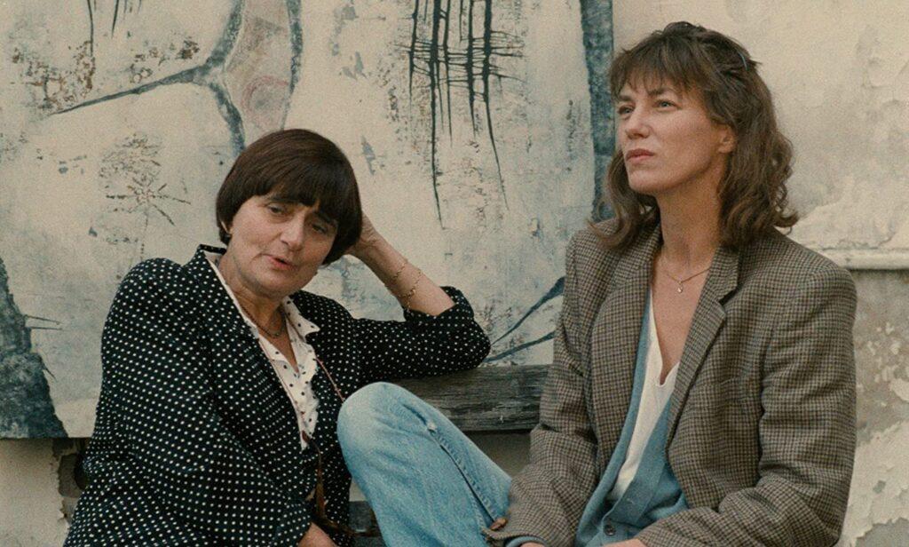 Agnès Varda and Jane Birkin during the filming of Jane B. par Agnès V.  (1988)