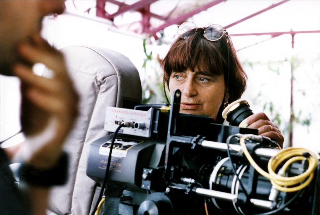 Agnès Varda during the filming of One Hundred and One Nights (1995)