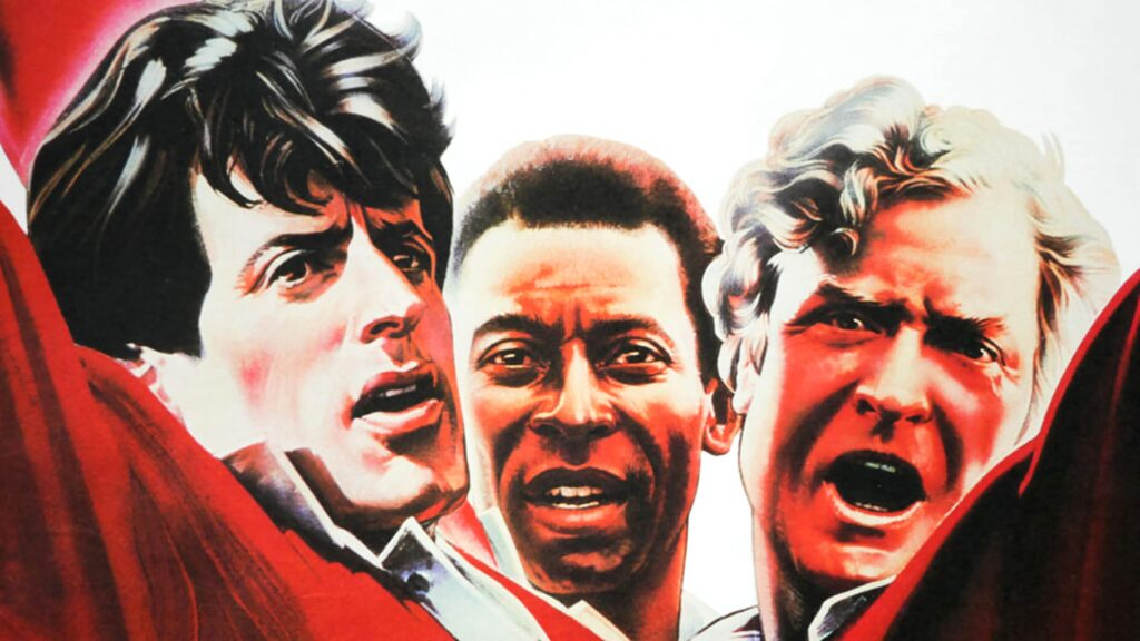 Sylvester Stallone , Pele and Michael Caine in Escape to Victory (1981) - football