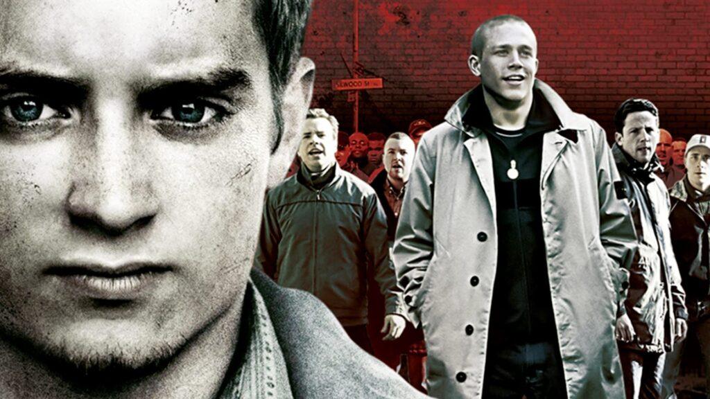 Elijah Wood and Charlie Hunnam in Green Street Hooligans (2005) - football