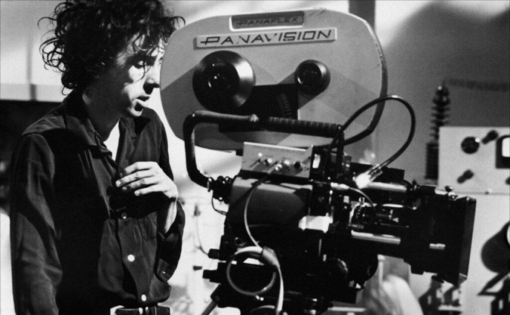 Film director Tim Burton on the set of Ed Wood (1994)