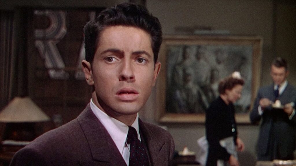 The uneasy Phillip in Rope (1948)