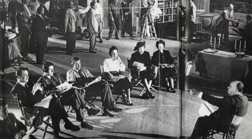Actors rehearsing on Rope (1948)