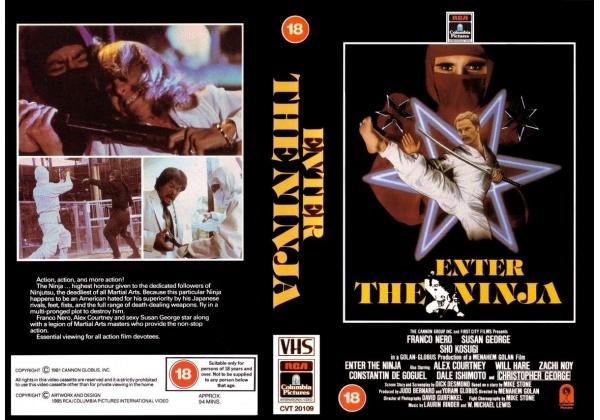 Enter The Ninja (1981) VHS sleeve cover