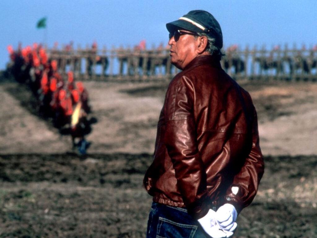 Akira Kurosawa during the making of Ran (1985)